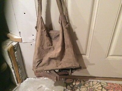 Antique Vintage Seeder Seed Spreader _Canvas Bag_Rittenhouse Hand Cranked