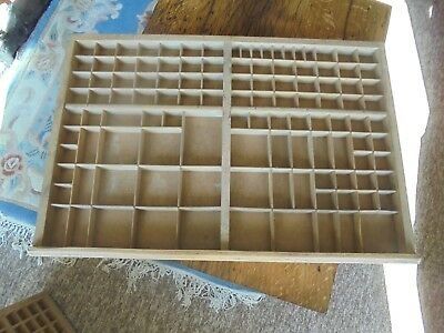French Printer's Wooden Tray/ Drawer, vintage -  upcycle project or for display
