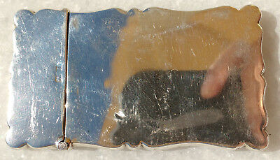 Small solid silver card case, turned corners, 1900   38 gr