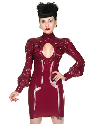 Libidex Latex frills rüschen dress kleid burlesque NP240 neu domina pin up