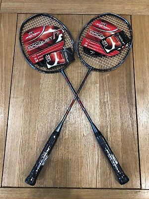 2x CARBON BADMINTON RACKETS RRP £150