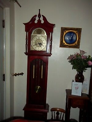 TEMPUS FUGIT REPRO STRIKING GRANDFATHER CLOCK (key wound 31 day)