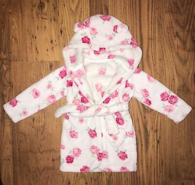 Flower baby girls dressing gown 9-12 months
