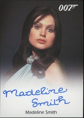 2016 James Bond Classics Madeline Smith (Miss Caruso) Autograph LIMITED