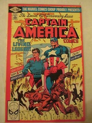 Captain america vol 1 #225 40th aniversary special Marvel comics
