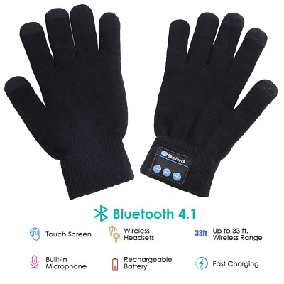 Bluetooth Gloves Wireless Winter Touch Screen with Built-in Stereo Speakers NEW