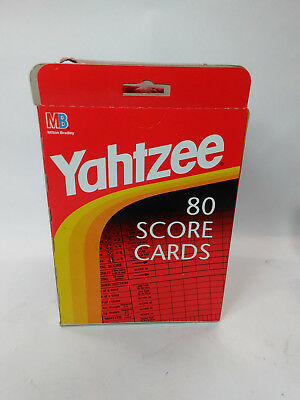 80 YAHTZEE Score Cards Pad Sheets Replacement Refill New