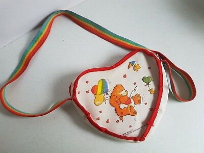 Vintage Carebears Childs Care Bear Purse with Rainbow Strap American Greetings