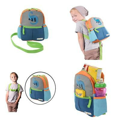 Alphabetz Dino Toddler Backpack with Safety Harness Leash 8643451486239