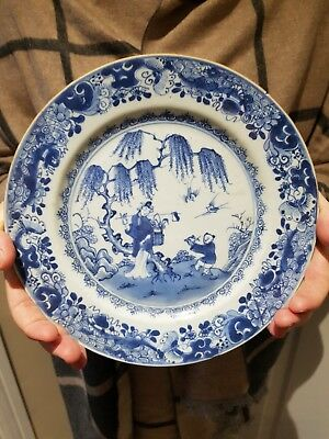Very Fine Antique 18th Century  Chinese  Blue White Dish
