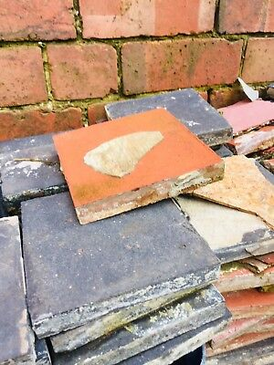 100+ Reclaimed Red/Terracotta & Black Quarry Tiles
