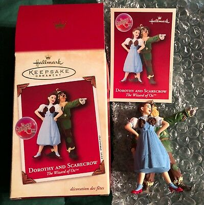 Hallmark Wizard of Oz Dorothy & Scarecrow Xmas Ornament New