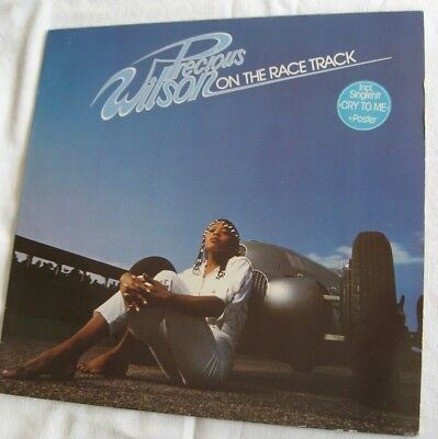 LP Vinyl Precious Wilson on the Race Track + Poster, 1980 -Top Zustand!