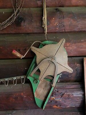 Antique GRASS SEED SPREADER Sower Vintage Primitive Garden Farm