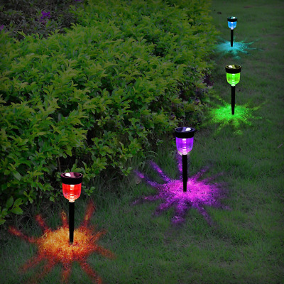 4Packs Solar Pathway Light Waterproof Path Lights Auto On/Off Landscape Lighting
