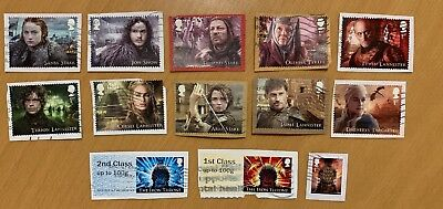 Gb 2018 Game Of Thrones Commemorative Stamps Kiloware Used On Paper & Post & Go
