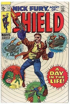 Nick Fury, Agent of SHIELD #14 VF/NM 9.0 white pages  Marvel  1969  No Reserve