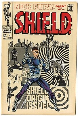 Nick Fury, Agent of SHIELD #4 VF+ 8.5 ow/white pages  Marvel  1968  No Reserve