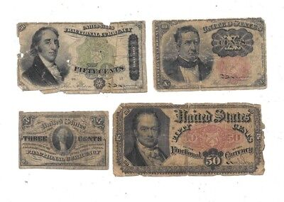 Nice Lot Of (4) Fractional Currency