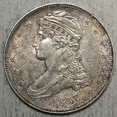 1837 Reeded Edge Half Dollar, GR-14, LDS, Almost Uncirculated+, Nice Color