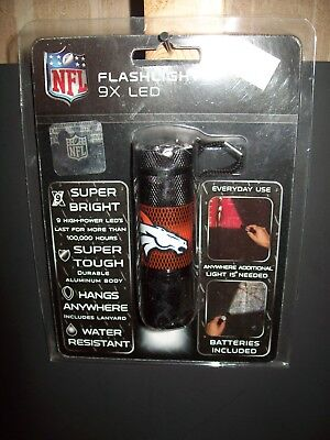 "Denver Broncos  9 x LED Flashlight  ""New in Package"""