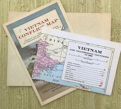 3 Maps South Vietnam War and Indo China 1968 Military Vietnam War Conflicts