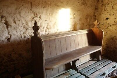 Pew, church. Solid oak made in 1840