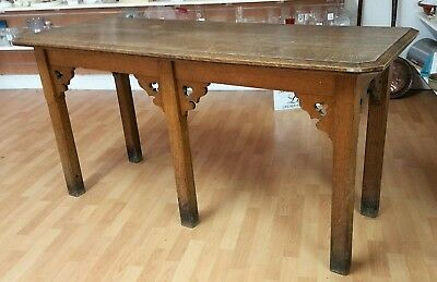 Lovely Antique Solid Oak Hall / Side Table