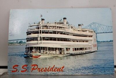 Louisiana LA New Orleans SS President Postcard Old Vintage Card View Standard PC