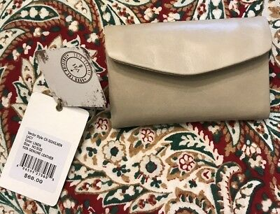 Hobo Vintage Hide Leather Wallet Lacy Color Linen NWT $68