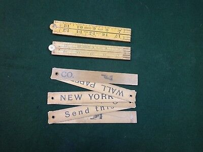 Lot Of Two  Vintage Folding Stanley Rules And Advertising Rule
