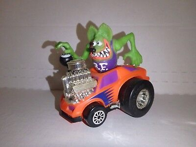 Rat Fink w/ Rockin' Roadster (loose) Ed Roth Rad Rods (1990) Kenner, car and R.F