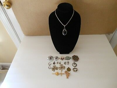 Antique Vintage Lot Of Celtic (Irish , Scottish) Jewelry 20 pcs