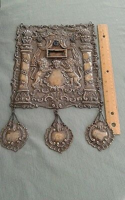 Antique Sterling Silver Torah Shield Judaica mid 19th century