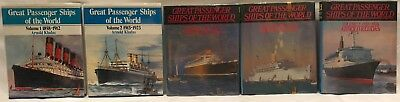 *VG* Fifty Famous Liners (3 Vol. Set) by Frank O. Braynard & William H. Miller