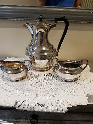 Antique  Silver plate teapot/ coffee pot set very good condition