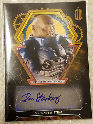 Doctor Who Extraterrestrial autograph card Dan Starkey Strax GOLD 1 of 1 auto!