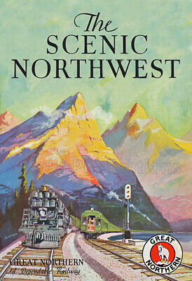 The Scenic Northwest – Great Northern Railway, circa 1915 Advertising Poster