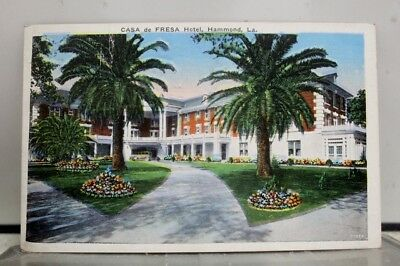 Louisiana LA Hammond Casa DE Fresa Hotel Postcard Old Vintage Card View Standard
