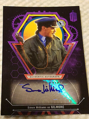 Doctor Who Extraterrestrial autograph card Simon Williams PURPLE 9 of 10 auto