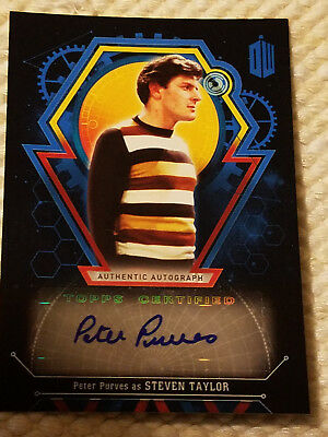 Doctor Who Extraterrestrial autograph card Peter Purves BLUE 22/25 auto