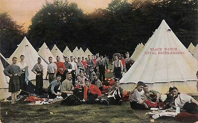 BLACK WATCH, ROYAL HIGHLANDERS IN CAMP ~ c1910