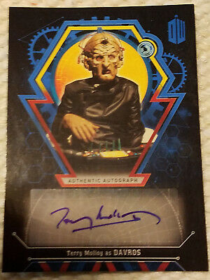 Doctor Who Extraterrestrial autograph card Terry Molloy DAVROS BLUE 16/25