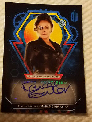 Doctor Who Extraterrestrial autograph card Frances Barber BLUE 18/25