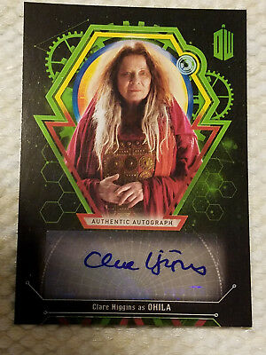 Doctor Who Extraterrestrial autograph card Claire Higgins 4/50 auto