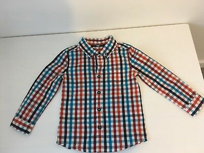 Boys M&S Checked Shirt 18-24 Months