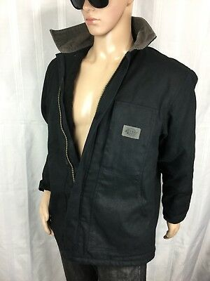 DICKIES DUCK COAT Heavy Duty conceal canvas quilt lined/insulated work jacket M