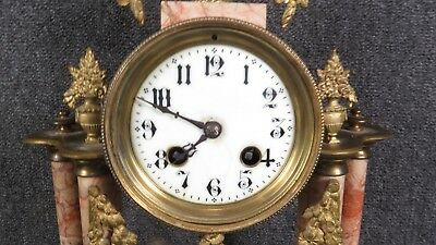 Antique  French Marble and Bronze Clock