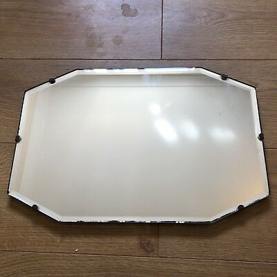Original Vintage Art Deco Bevelled Edge Frameless Wall Mirror