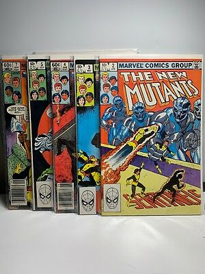 The New Mutants #2 3 4 5 7 Set 5 Comics VF. TV Show.